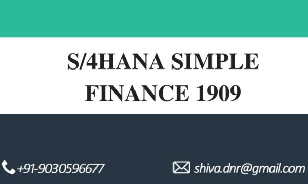 S4HANA SIMPLE FINANCE VIDEOS