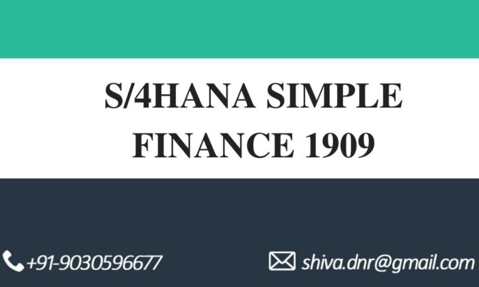 S4HANA SIMPLE FINANCE VIDEOS