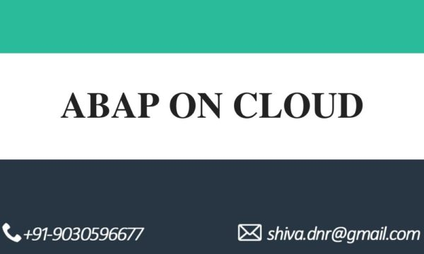 ABAP ON CLOUD videos
