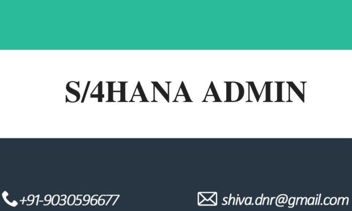 S/4hana admin videos