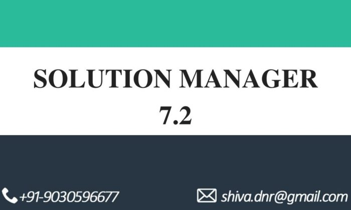 Solution manager 7.2 videos