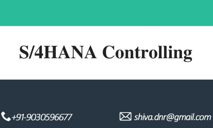 s4hana controlling videos