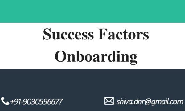 Success factors Onboarding