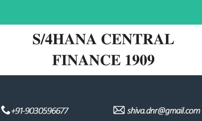 s4hana central finance videos