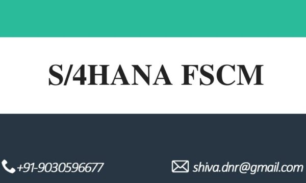 S4HANA FSCM VIDEOS