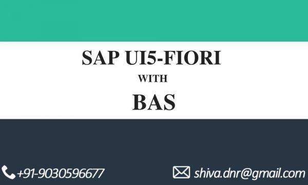 SAP UI5 FIORI BAS